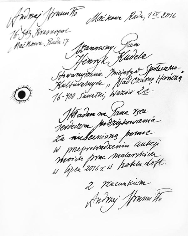 Podziękowanie od prof. Andrzeja Strumiłły